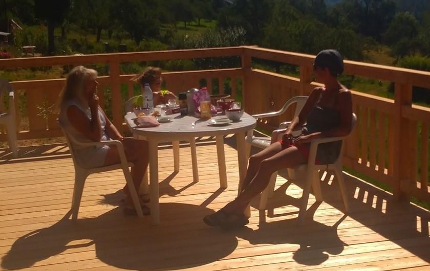 Location de vacances - Chalet à Vallouise - Terrasse supérieure