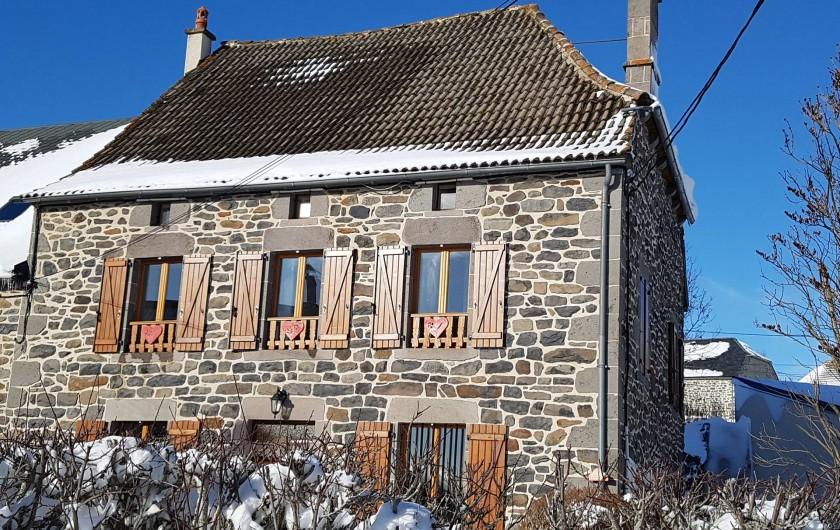 Location de vacances - Villa à Valuéjols - sous la neige, exposée plein Est avec de beau levés de soleil
