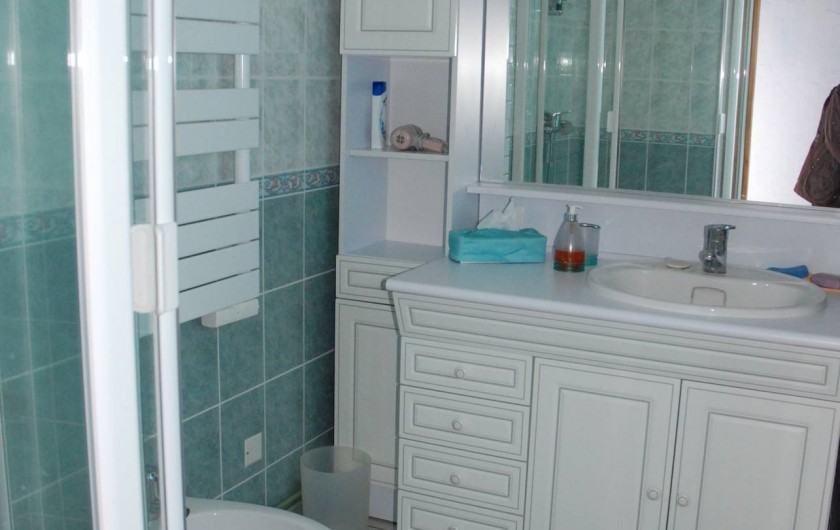Location de vacances - Villa à Valuéjols - salle d'eau attenante de la chambre 1