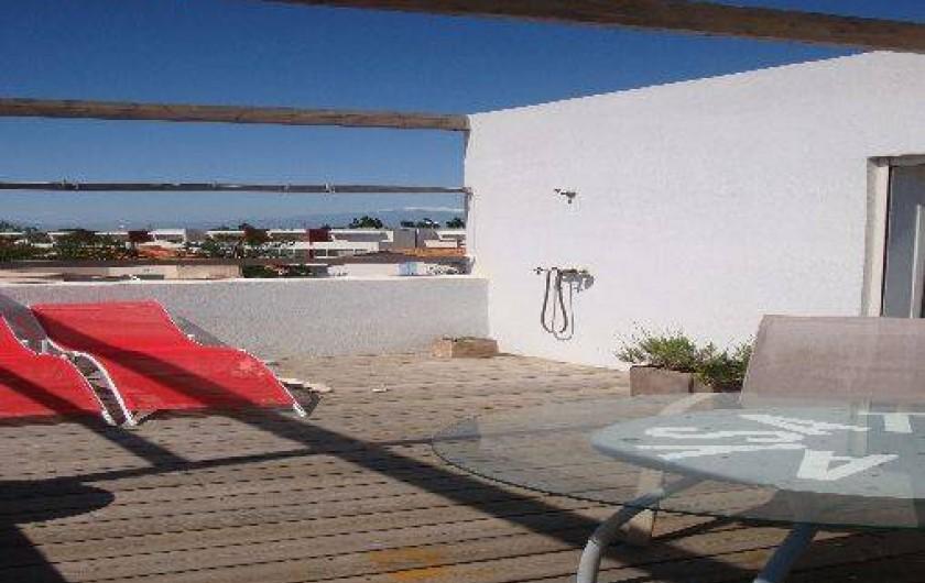 Location de vacances - Maison - Villa à Saint-Cyprien - Toit terrasse accessible, vue sur la mer.