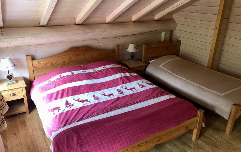 Location de vacances - Chalet à La Bresse - 1ère chambre étage