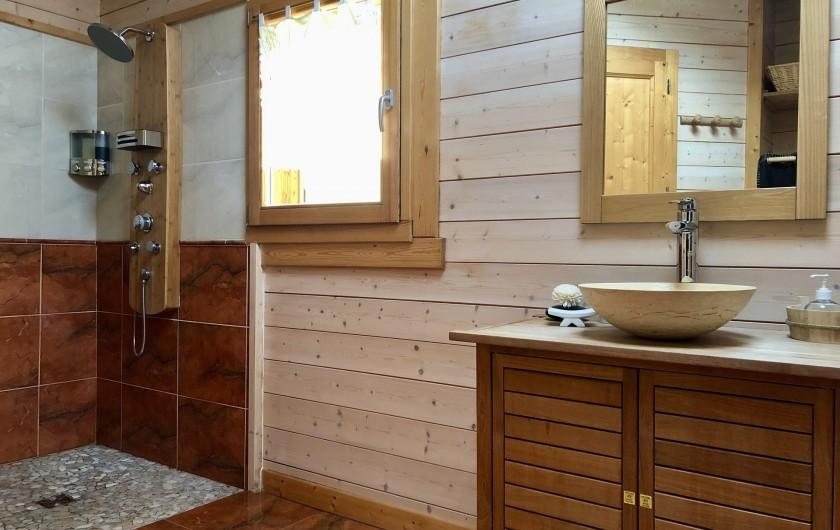 Location de vacances - Chalet à La Bresse - Salle de douche (étage)