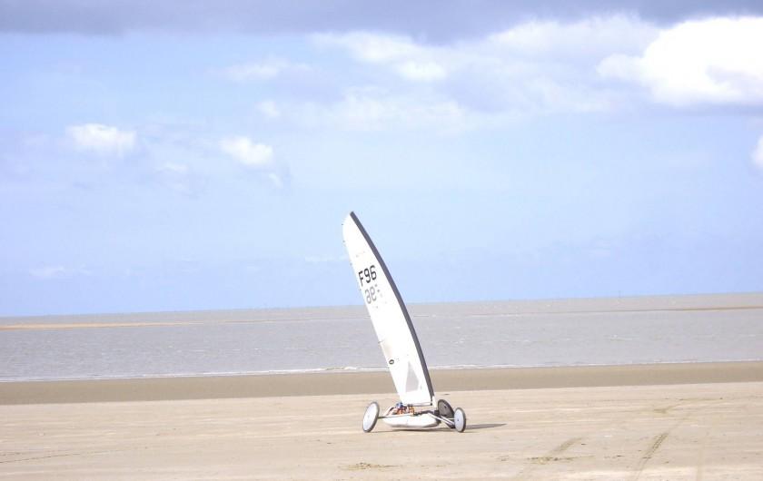 Location de vacances - Appartement à Saint-Brevin-les-Pins - Location Vacances Bretagne Sud: Char à voile sur la plage de St-Brevin l'Océan