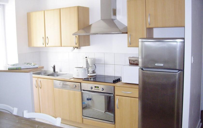Location de vacances - Appartement à Saint-Brevin-les-Pins - Appartement Vacances : Cuisine aménagée toute équipée (Vacances Mer)