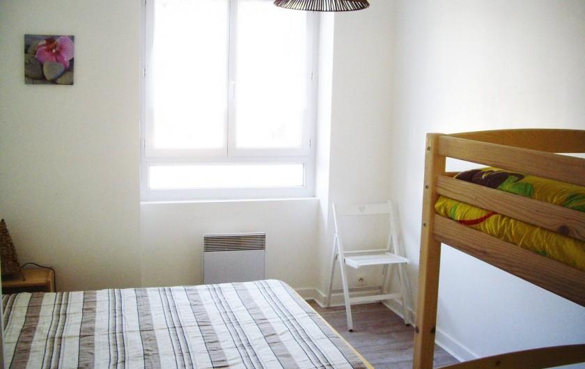 Location de vacances - Appartement à Saint-Brevin-les-Pins - Location Mer : Appartement avec chambre lit double et lits superposés