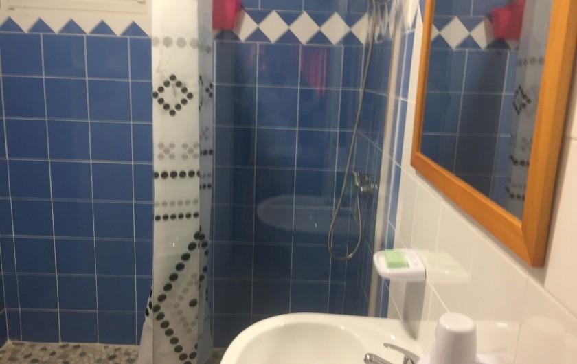 Location de vacances - Appartement à Les Abymes - La salle de bain avec douche.