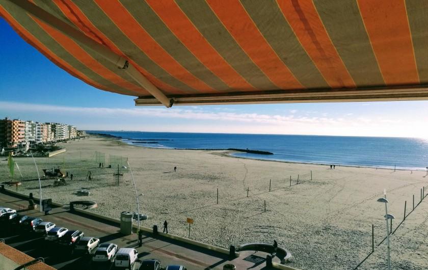 Location de vacances - Appartement à Palavas-les-Flots - Vue du balcon (photo prise l'hiver)