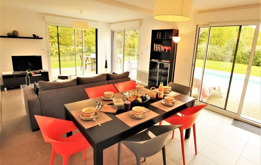 Location de vacances - Villa à Saint-Vincent-sur-Jard - Pièce de vie