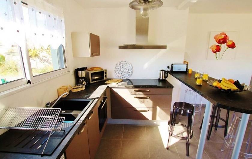 Location de vacances - Villa à Saint-Vincent-sur-Jard - cuisine équipée