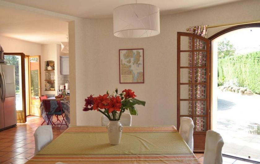 Location de vacances - Villa à Saint-Génies-de-Malgoirès - Salle à manger intérieur