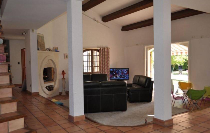 Location de vacances - Villa à Saint-Génies-de-Malgoirès - Le salon