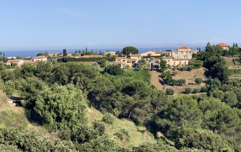 Location de vacances - Villa à Cagnes-sur-Mer - Vue depuis la terrasse Scenery from terrace