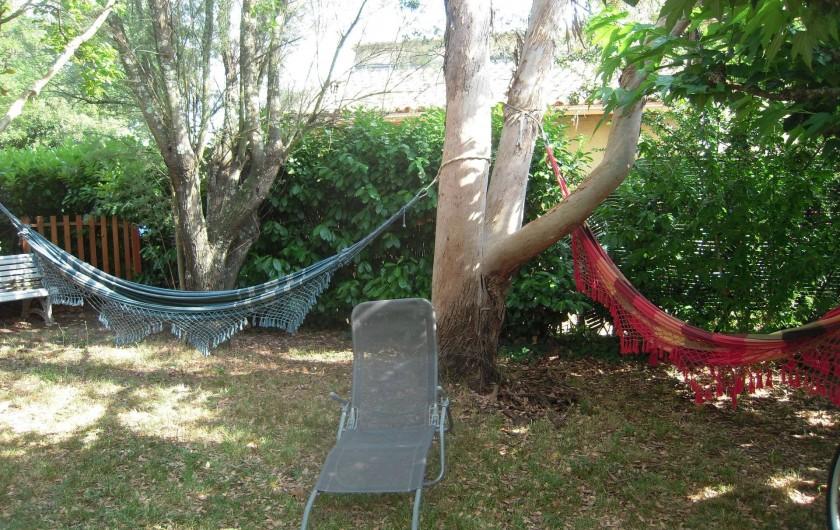 Location de vacances - Maison - Villa à Vallon-Pont-d'Arc - les hamacs