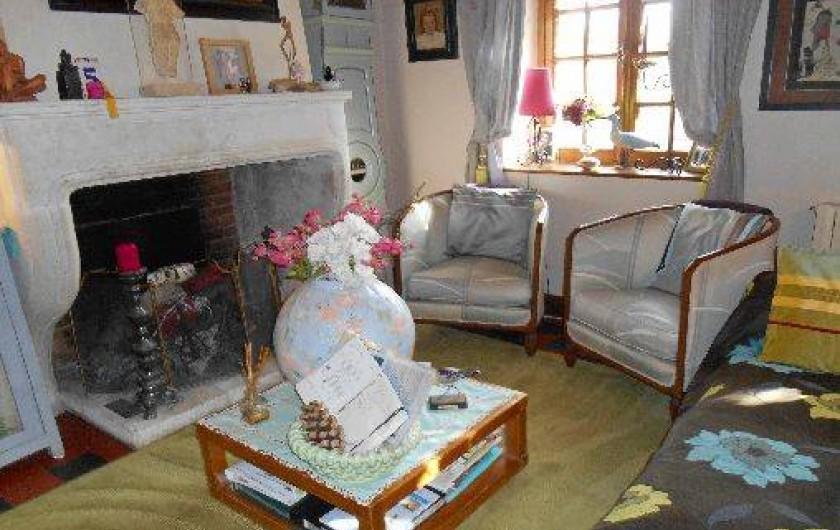 Location de vacances - Chambre d'hôtes à Les Andelys - Le coin cheminée