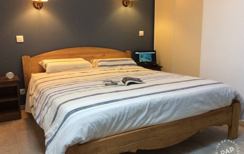 Location de vacances - Appartement à Les Claux - chambre  avec lit de 160x200