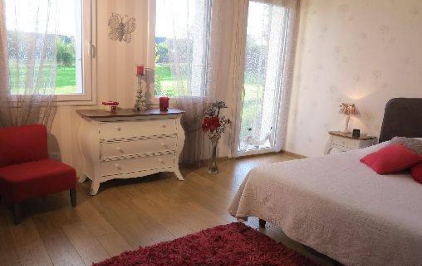 Location de vacances - Gîte à Barentin - chambre 1 : lit 160 cm