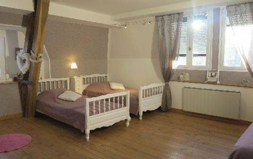 Location de vacances - Gîte à Barentin - chambre 4 : 2 lits 90 cm