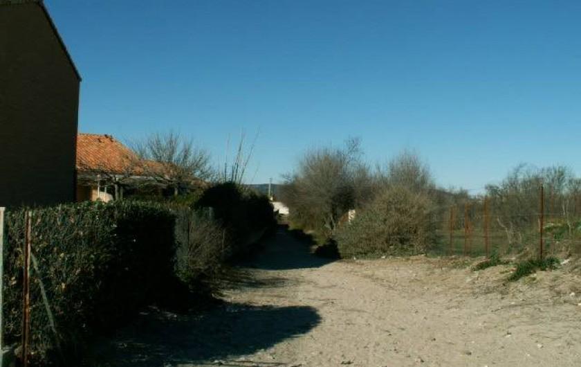 Location de vacances - Appartement à Frontignan - CHEMIN PIETON ACCES PLAGE