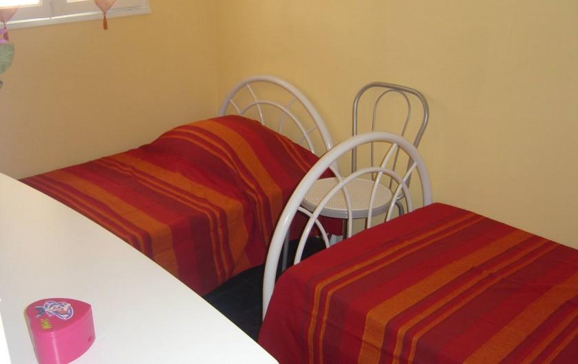 Location de vacances - Appartement à Frontignan - CHAMBRE 2 LITS INDIV