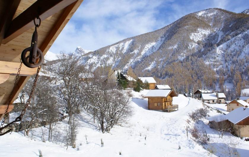 Location de vacances - Chalet à Saint-Paul-sur-Ubaye - vue du balcon