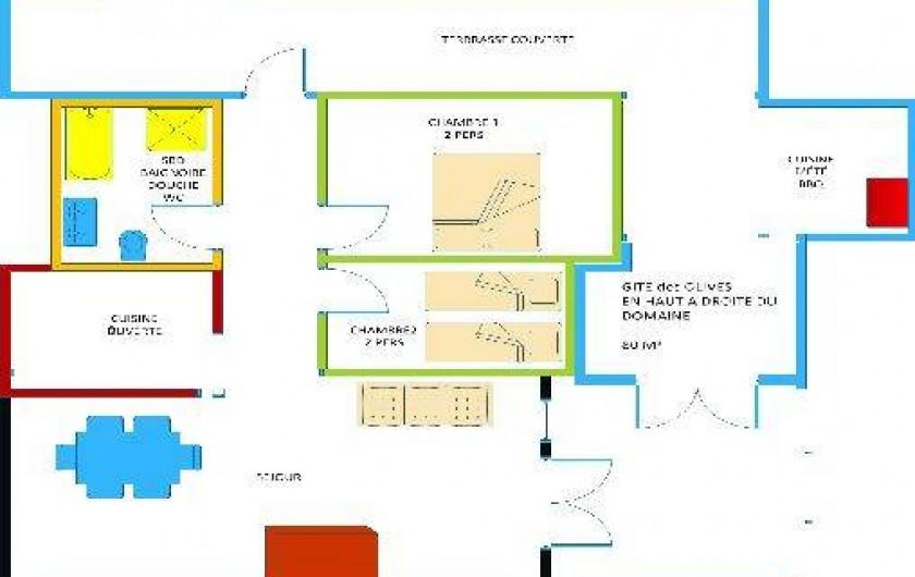 Location de vacances - Gîte à Chateauvert - Plan détaillé