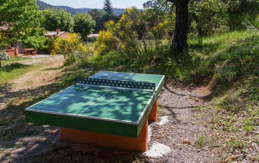 Location de vacances - Gîte à Chateauvert - Table de ping-pong