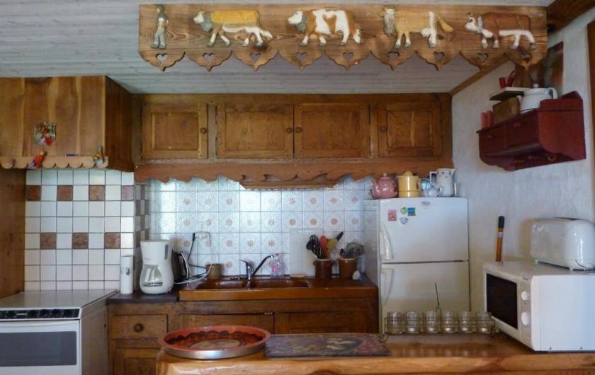 """Location de vacances - Chalet à Lanslevillard - Appartement """"Côté ruisseau"""""""