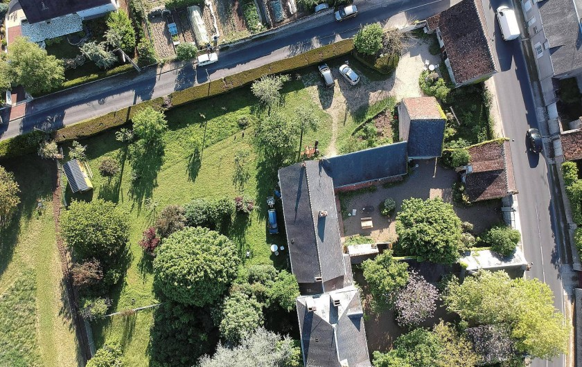 Location de vacances - Appartement à Saint-Dyé-sur-Loire - Le domaine de la Boisselée vue du ciel