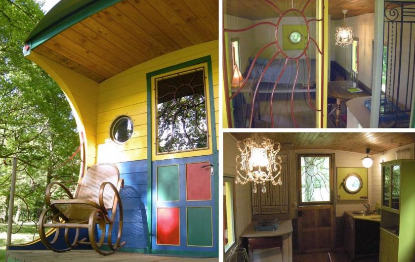 Location de vacances - Gîte à Donzy - Roulotte gitane - pièce à vivre & chambre