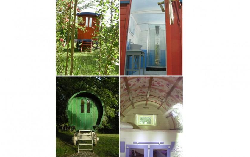 Location de vacances - Gîte à Donzy - Roulotte circassienne - salle d'eau Roulotte irlandaise - chambre