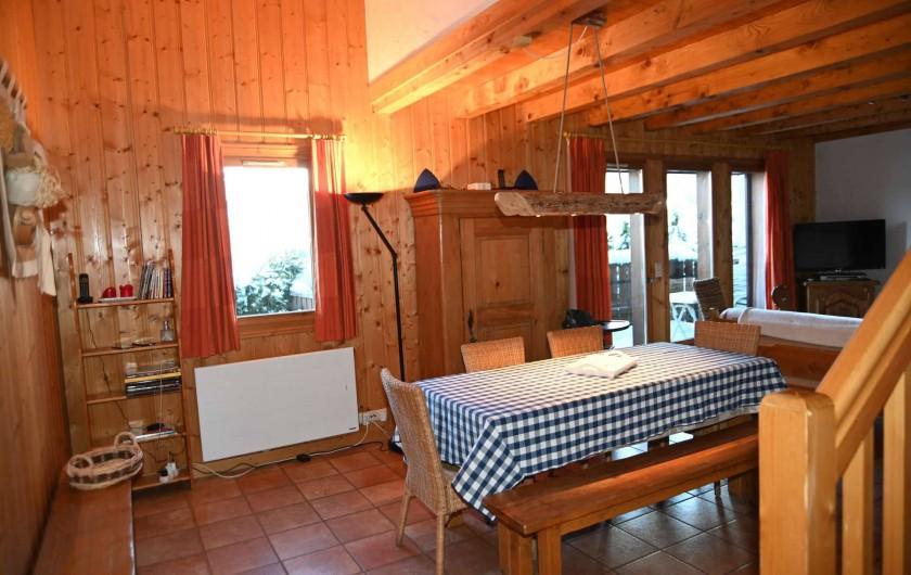 Location de vacances - Chalet à Saint-Nicolas de Véroce - Le coin repas