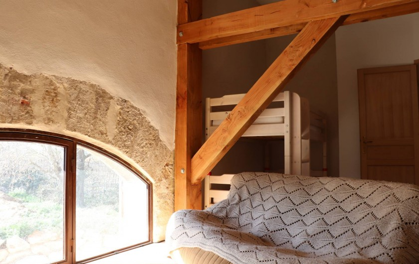 Location de vacances - Gîte à Béziers - Chambre 2, coin télé