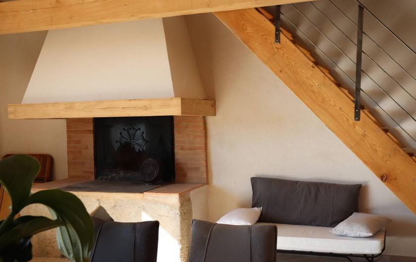 Location de vacances - Gîte à Béziers - Cheminée languedocienne