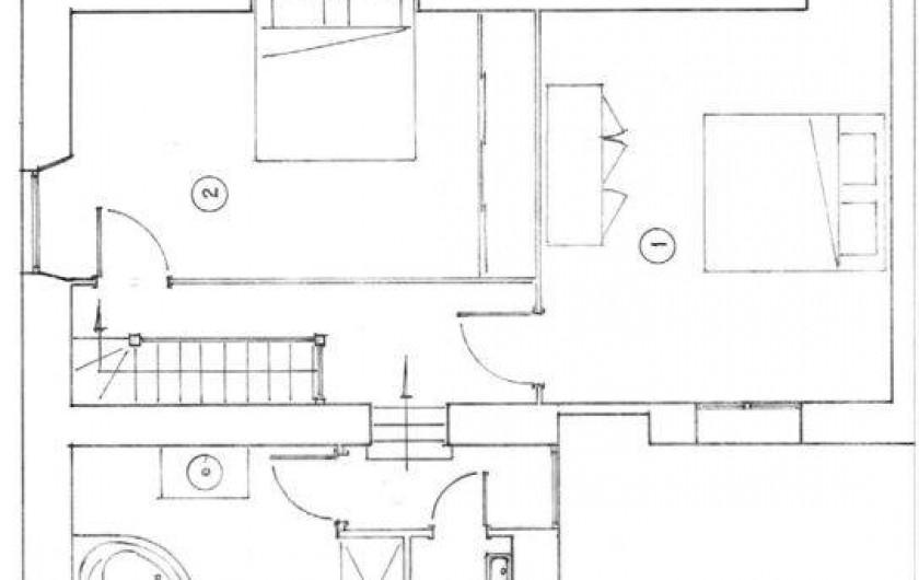 Location de vacances - Gîte à Sainte-Anastasie - Plan Domitia 1er étage