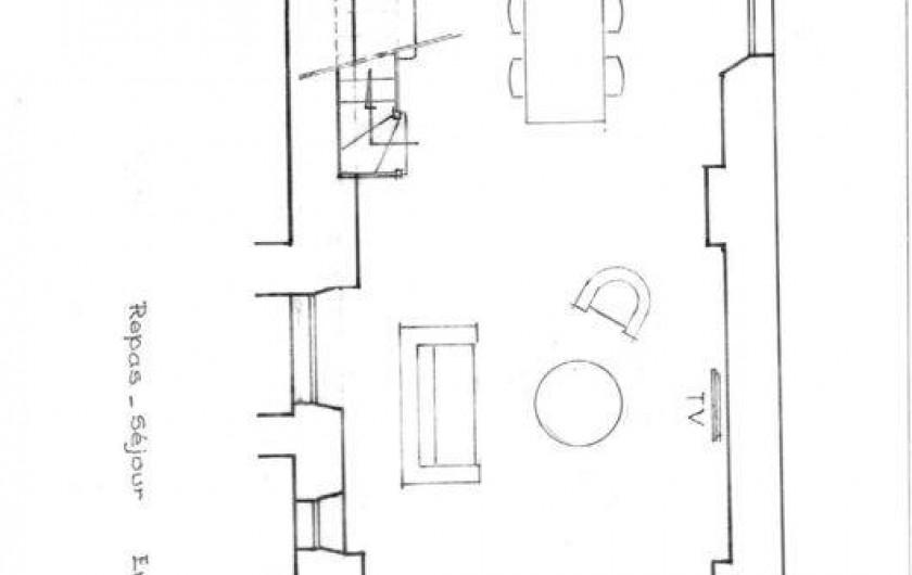 Location de vacances - Gîte à Sainte-Anastasie - Plan Domitia Rez de Chaussée