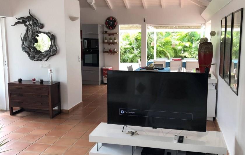Location de vacances - Villa à Saint-François - coin tv