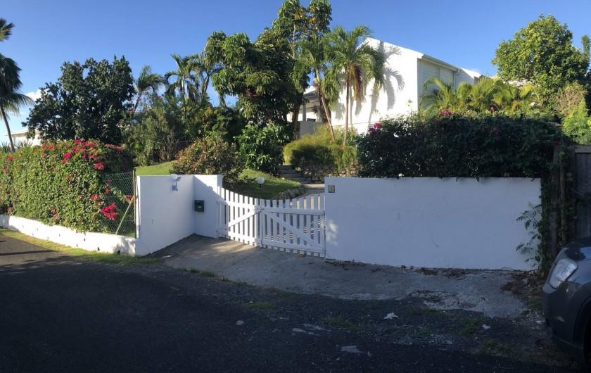 Location de vacances - Villa à Saint-François - arrivée à villa douceur caraïbes