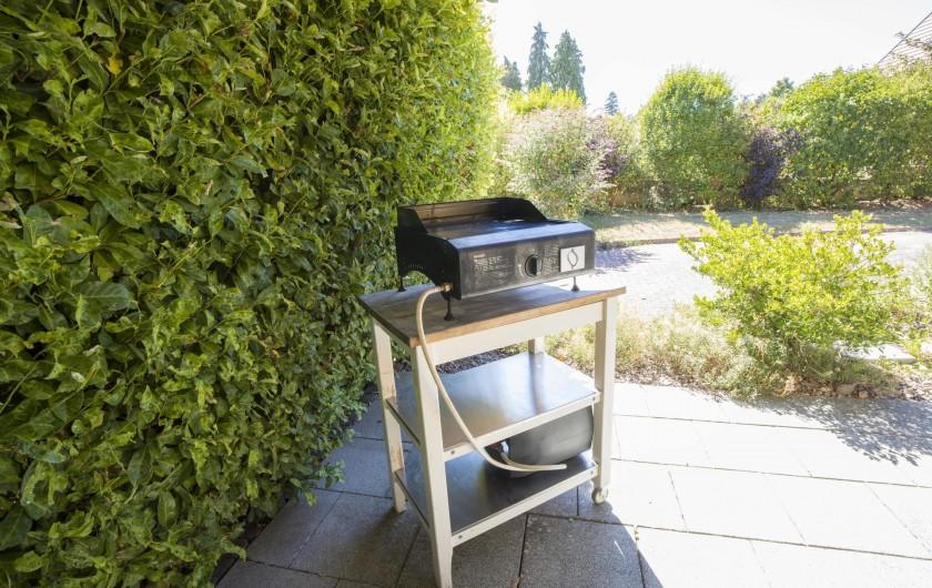 Location de vacances - Maison - Villa à Rosheim - Plancha facile d'utilisation avec vue sur le jardin.