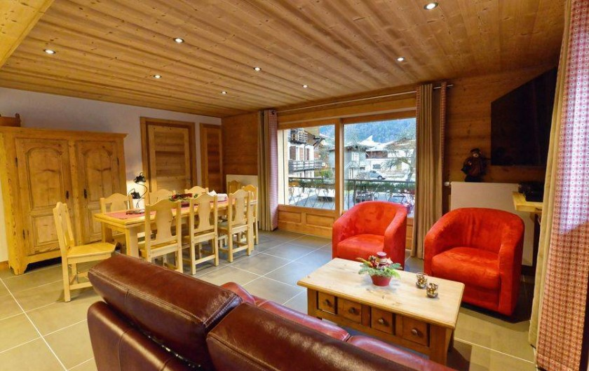 Location de vacances - Appartement à Morzine - Séjour - salon