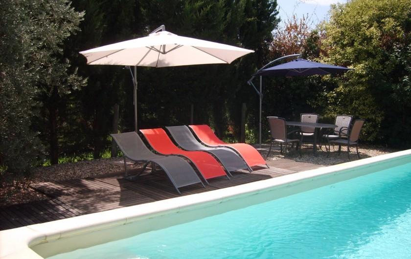 Location de vacances - Gîte à Caumont-sur-Durance - Piscine privée