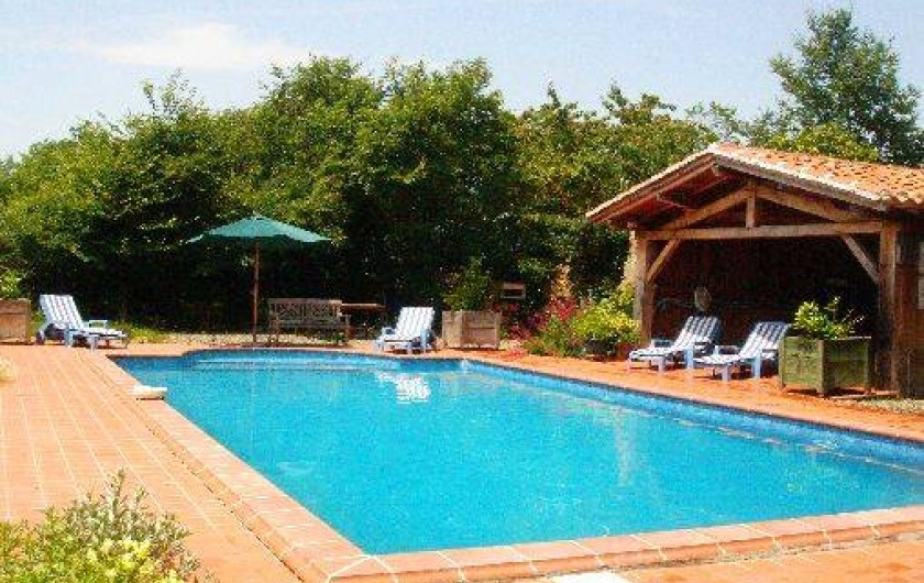 Location de vacances - Maison - Villa à Mirannes - Piscine 5x10 privative et clôturée à l'usage unique des vacanciers
