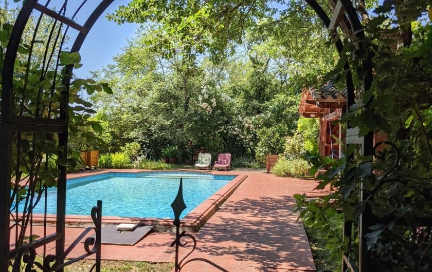 Location de vacances - Maison - Villa à Mirannes - Portail Entrée Piscine