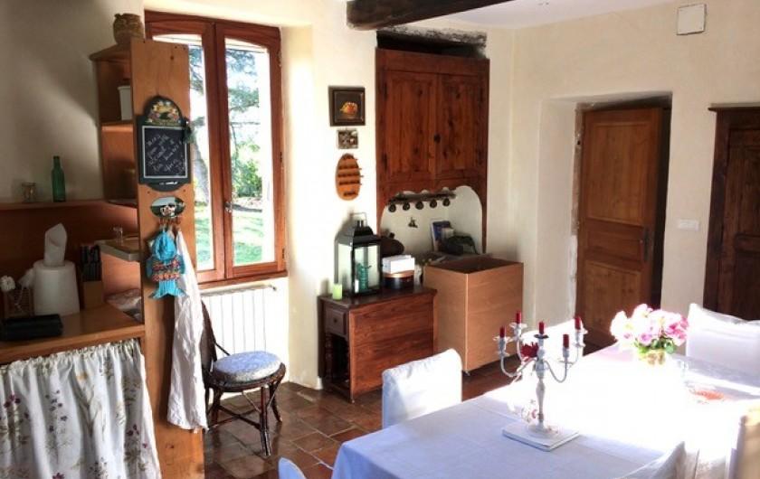 Location de vacances - Maison - Villa à Mirannes - Cuisine équipée, lave-vaisselle, four, grille-pain, plaque gaz, frigidaire