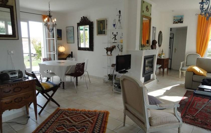 Location de vacances - Villa à Sainte-Marie-de-Ré - salle à manger