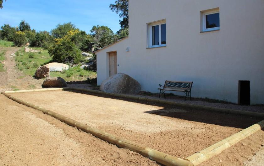 Location de vacances - Villa à Sainte-Lucie de Porto-Vecchio - TERRAIN DE PÉTANQUE