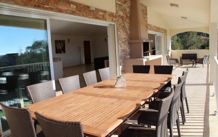 Location de vacances - Villa à Sainte-Lucie de Porto-Vecchio - TERRASSE