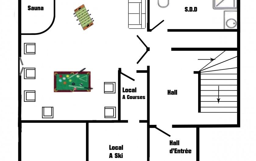 Location de vacances - Chalet à Châtel - vue des balcons du chalet sur le lac