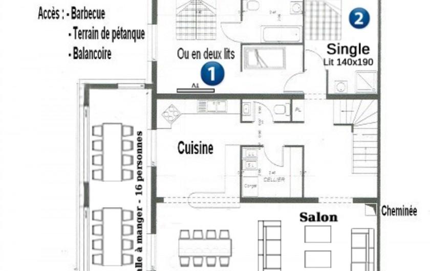 Location de vacances - Chalet à Châtel - coin de la chambre 5 avec il manque 1 lit 1 pers avec le lit bébé