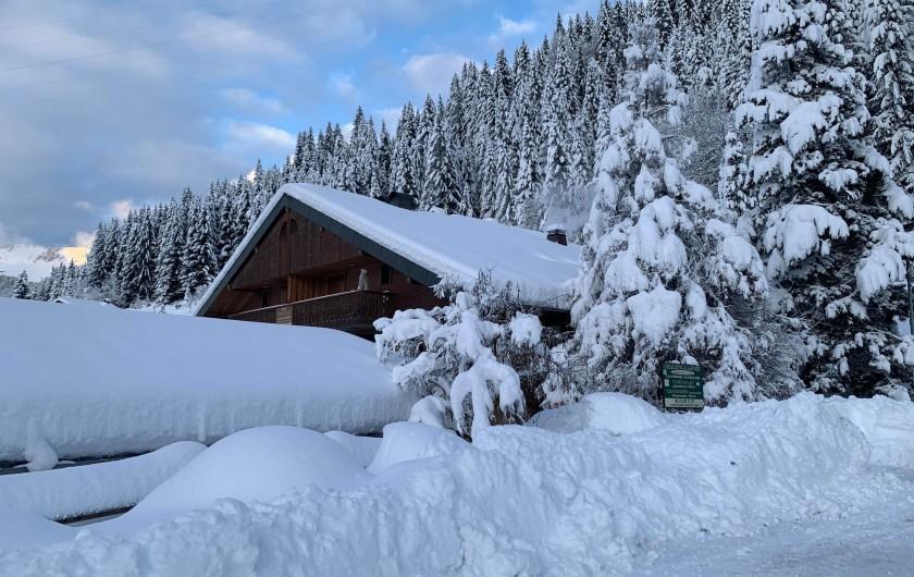 Location de vacances - Chalet à Châtel - accès direct au  lac et a l'espace barbecue!