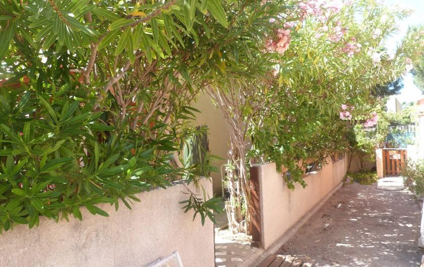 Location de vacances - Villa à Gruissan Plage - l'entrée du jardin